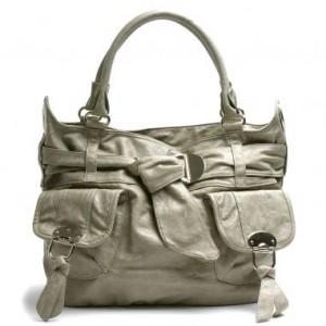 Handbag Heaven Stephanie Belted Bag Gray