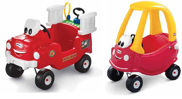little tikes cozy coupe, spray & rescue fire truck {spring event