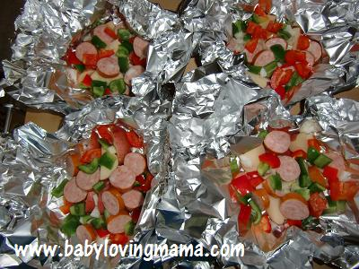 Grilled Potato Sausage Foil Pack 2
