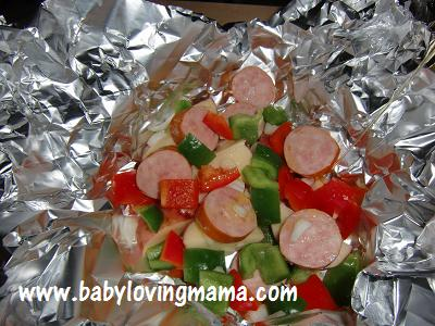 Grilled Potato Sausage Foil Pack 4