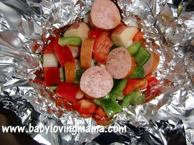 Grilled Potato Sausage Foil Pack 5