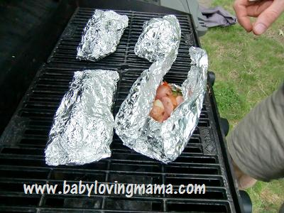 Grilled Potato Sausage Foil Pack 6