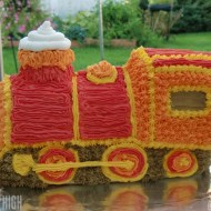Wilton 3-D Express Train Cake {Review & Giveaway}