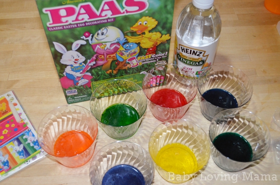 Making Bright Easter Eggs with Paas Egg Decorating Kits and Heinz ...
