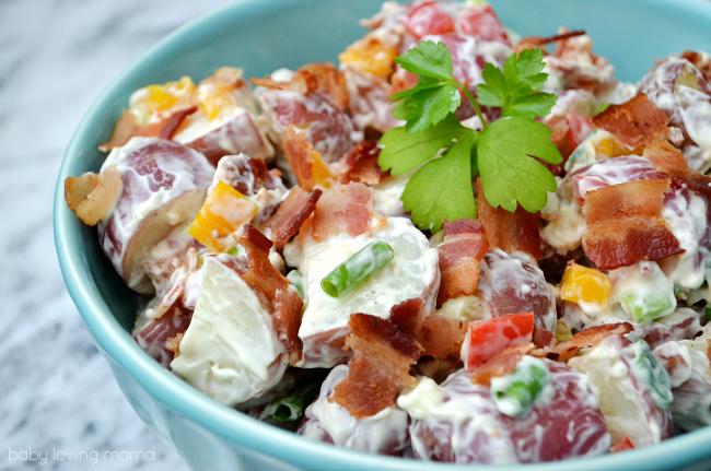 Bacon Ranch Potato Salad - Baby Loving Mama