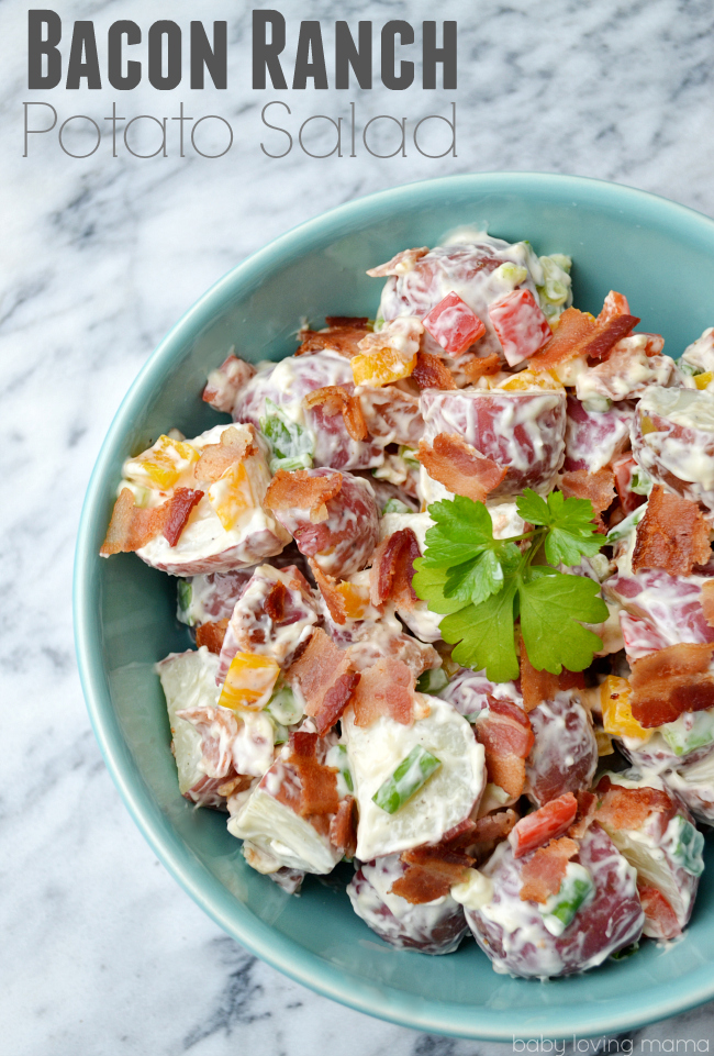 Ranch Potato Salad By The Vegetarian Casserole Queen Pictures to pin ...