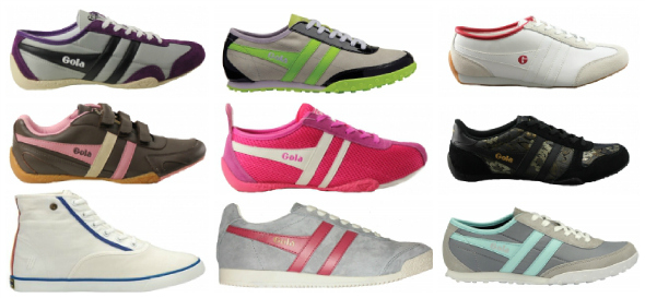 Gola Womens Shoes Collage