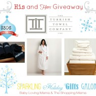 Sparkling Holiday Gifts Galore: His and Hers Giveaway from Turkish Towel Company CLOSED