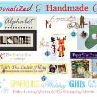 Sparkling Holiday Gifts Galore: Personalized & Handmade Gifts Giveaway CLOSED