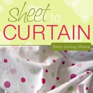 Turn a Sheet into Curtains {Craft Tutorial}