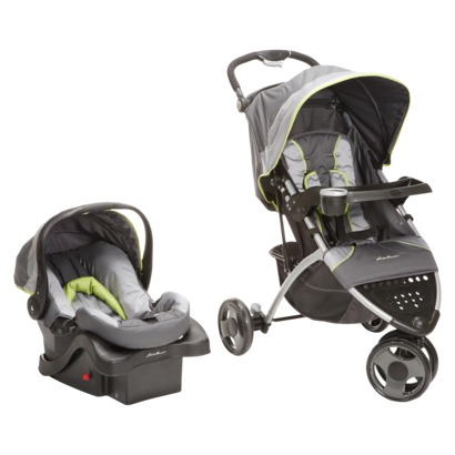 Eddie Bauer Trail Hiker 3 Wheel Travel System Grey