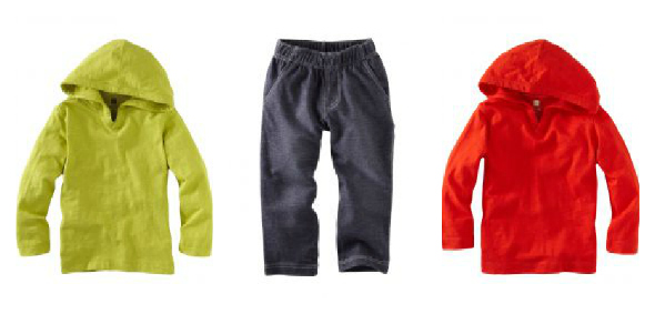 Tea Collection Happy Hoodie Denim Look Pants