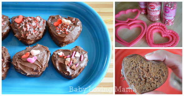 Valentines Day Heart Brownies