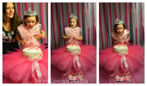 Ballerina Birthday Party Blowing Candles