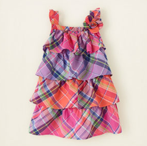 ChildrensPlace_TieredPlaidDress