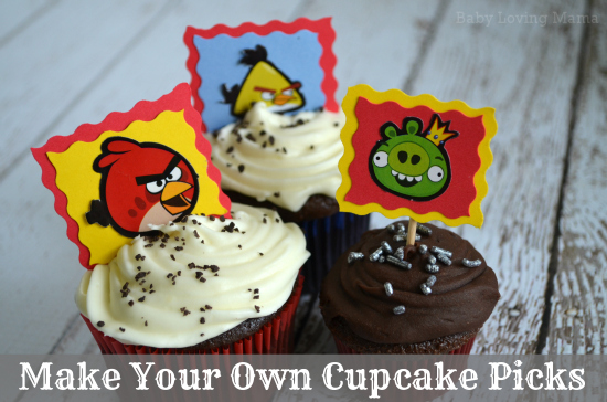 Make Your Own Cupcake Picks Angry Birds