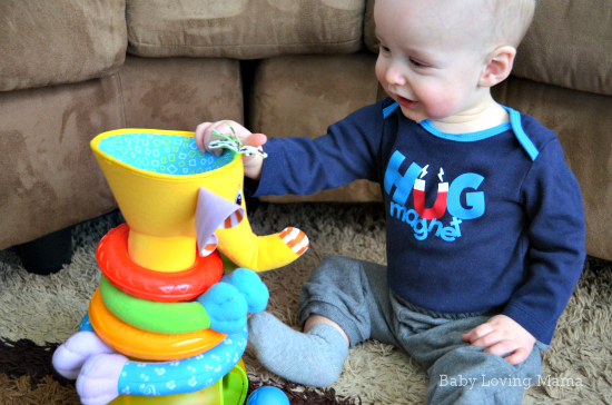 Tiny Love Elephant Musical Stack and Ball Game