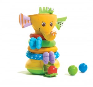 Tiny Love Musical Stack & Ball Game Elephant