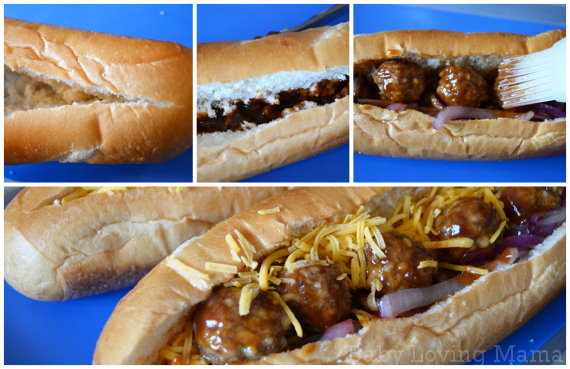 Kraft Fresh Take Barbecue Meatball Sub 3
