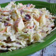Creamy Apple Cranberry Coleslaw Recipe | Gearing Up for Summer #KraftRecipes