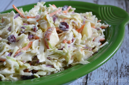 Creamy Apple Cranberry Coleslaw Miracle Whip 3