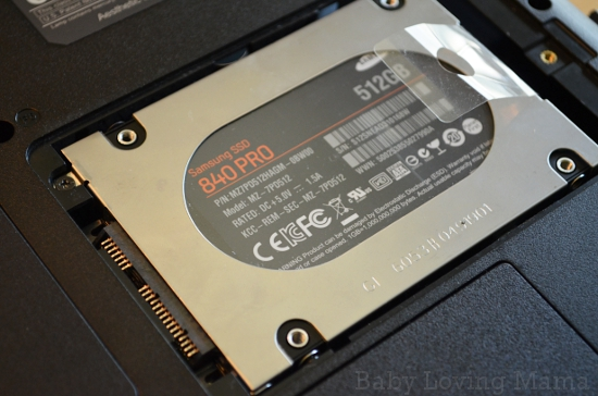 Samsung SSD 840 Pro Series Installed