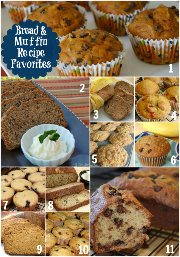 Muffin Breakfast Bread Favorite Recipes Roundup