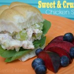 Sweet Crunchy Chicken Salad Sandwiches