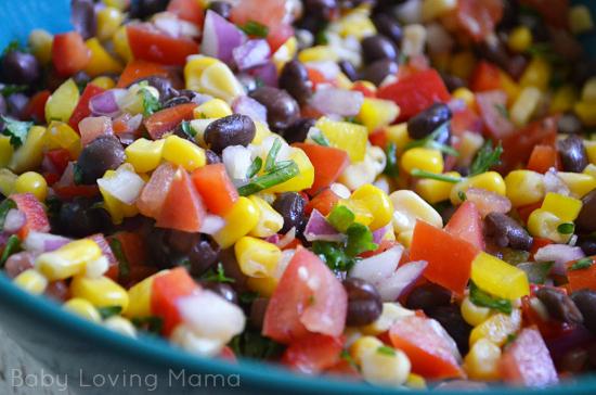 Corn Black Bean Salsa for Fiesta Layer Dip