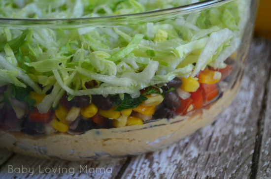 Fiesta Layer Dip Layer Three for Be Natural Virtual Cookoff