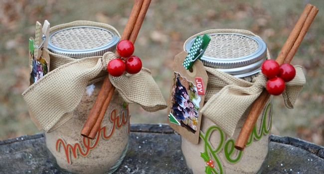 DIY Russian Tea Mason Jar Gift with Photo Gift Tag