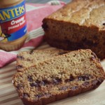 Banana Chocolate Chip Bread featuring Planters Peanut Butter