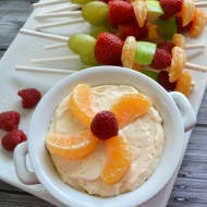 Citrus Dream Fruit Dip with Fruit Skewers #HalosFun