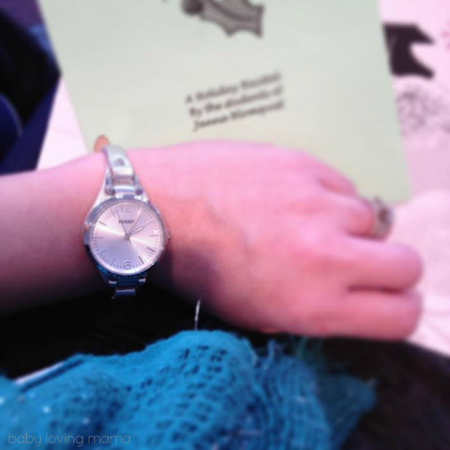 Fossil watch at piano recital