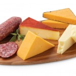 Hickory Farms Cheddar Flight with Salami
