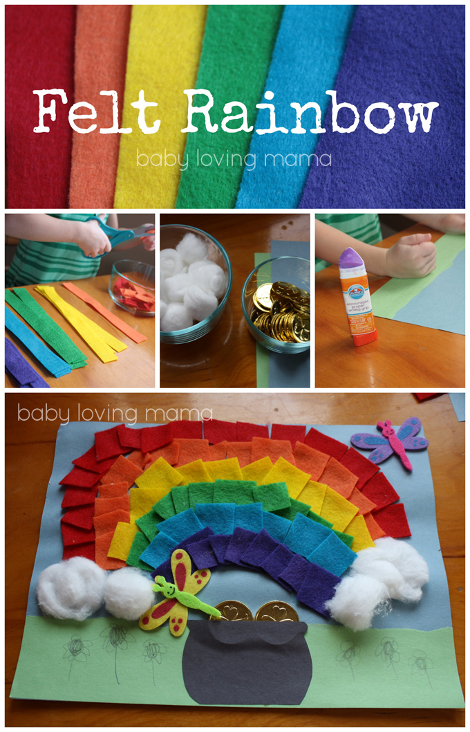Felt Rainbow with Pot of Gold Craft Tutorial