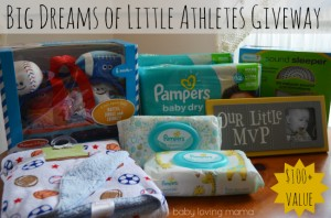 Pampers Big Dreams of Little Athletes Giveaway