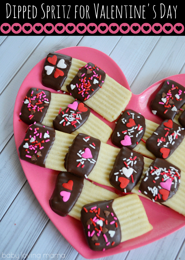 Spritz Chocolate Dipped for Valentines Day