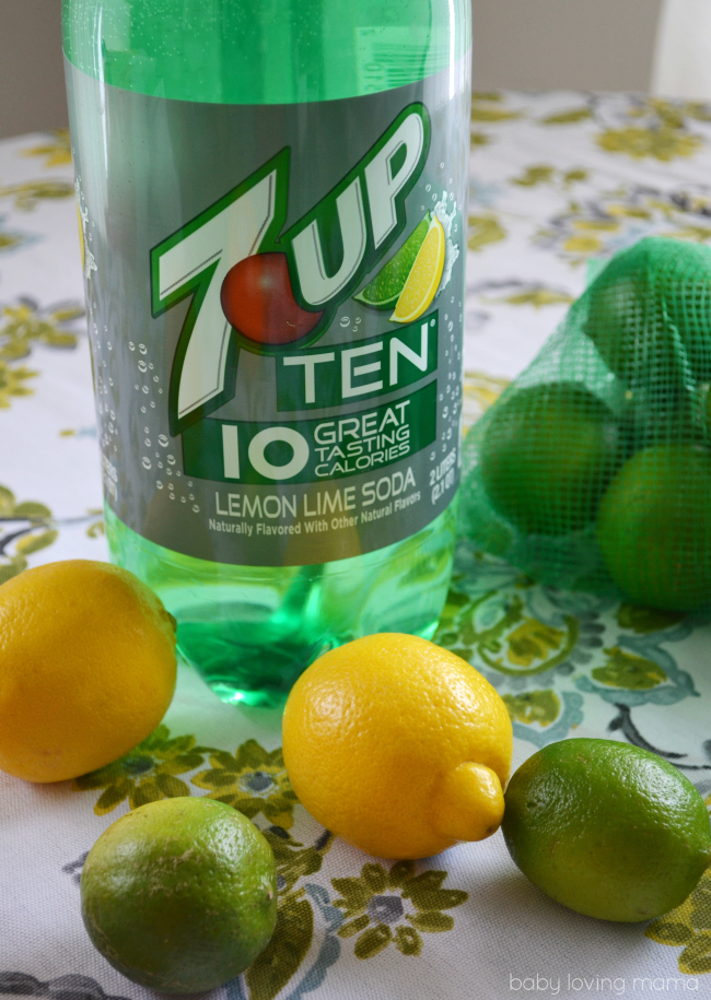 7UP TEN 10 Calories with Lemons and Limes
