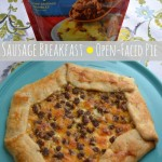 Sausage and Cheese Breakfast Open Faced Pie with Jimmy Dean
