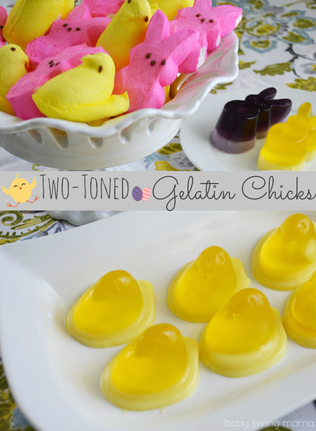 Two Toned Jello Chicks with Wilton and Peeps