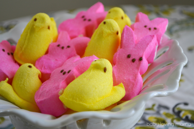 TwoToned Gelatin Easter Chicks and Bunnies with Wilton and PEEPS