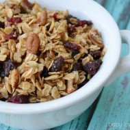 Homemade Granola Recipe | Making Choices that Feel Good #FinishMoms #CleanItForward