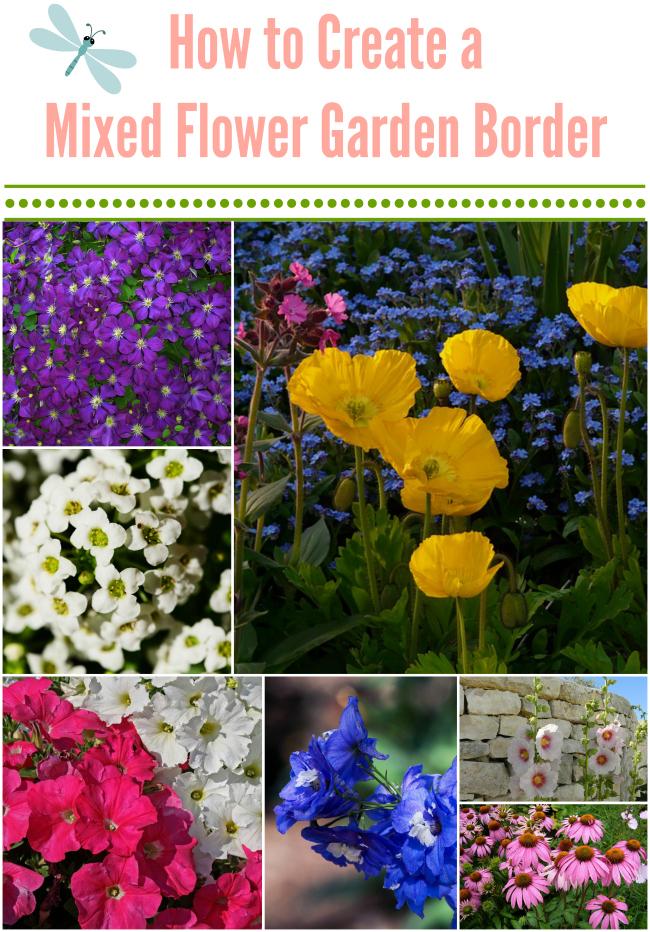 How to Create a Mixed Flower Garden Border