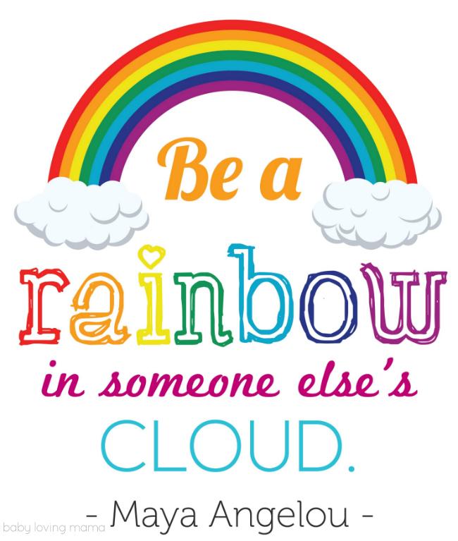 Rainbow Quote Free Printable Image