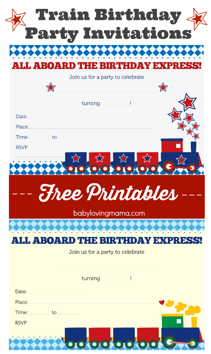 Train Birthday Party Invitations Free Printables Finding Zest – Printable Free Birthday Party Invitations