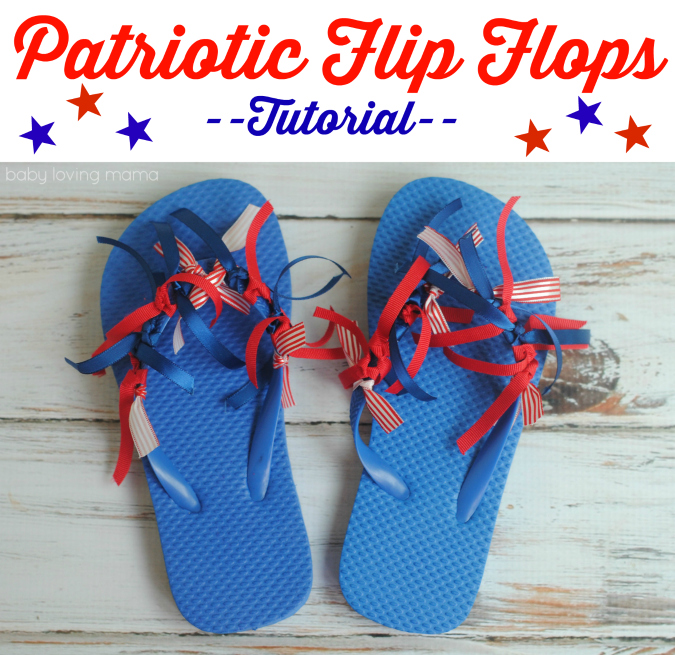 Patriotic Flip Flops Tutorial