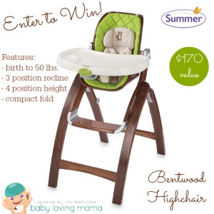 Summer Infant Bentwood High Chair Giveaway