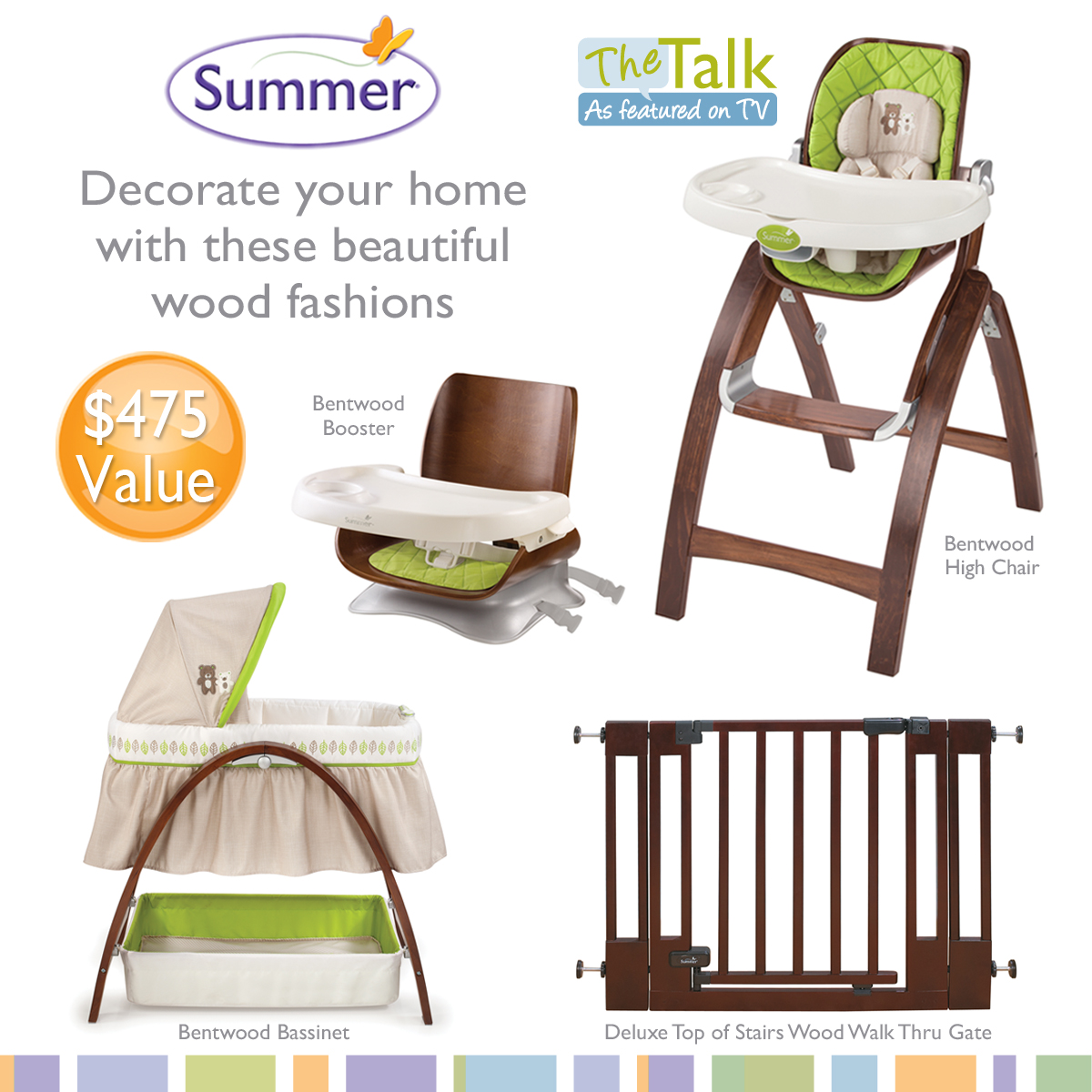 Antique high chair bentwood - Summer Infant Sweepstakes The Talk The Bentwood High Chair