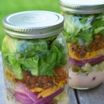 Cheeseburger Salad in a Jar